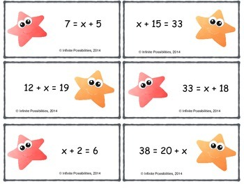 Writing One Step Equations Cooperative Game