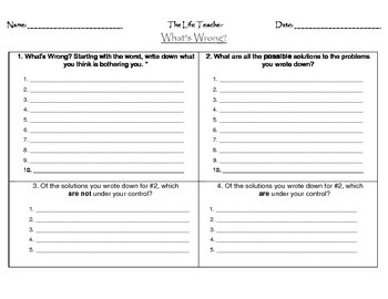 What's Wrong Worksheet