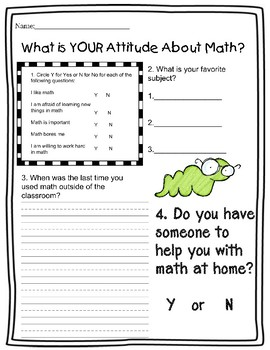 Whats YOUR Attitude About Math?