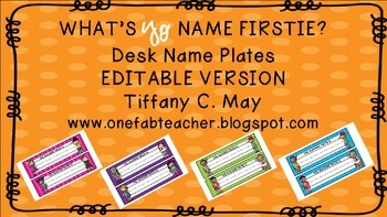 What's Yo Name? Desk Name Plates (EDITABLE)