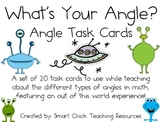 What's Your Angle?  ~  20 Math Task Cards for Types of Angles