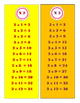 What's Your Belt? - Multiplication Table Key Chain Cards