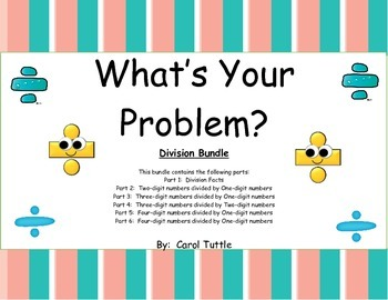 What's Your Division Story Problem? BUNDLE of Six Products