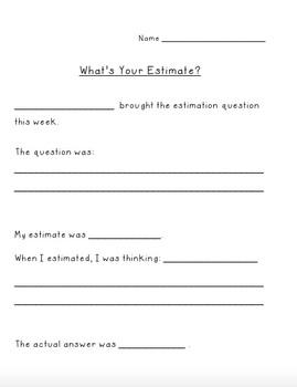 Estimation: Weekly Practice in a Fun Way