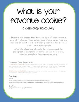 What's Your Favorite Cookie? Class Graphing Activity