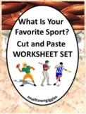Sports Cut and Paste, Fine Motor,Kindergarten, Special Edu