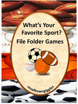 Sports Math and Literacy File Folder Games for Interactive Centers and Stations