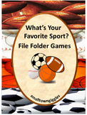 Sports File Folder Games, Special Education Math and Literacy Centers Autism