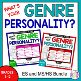 Reading Genre Personality Test Bundle