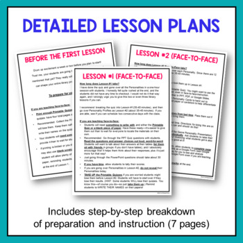 This is a graphic of Personality Quiz Printable for assessment