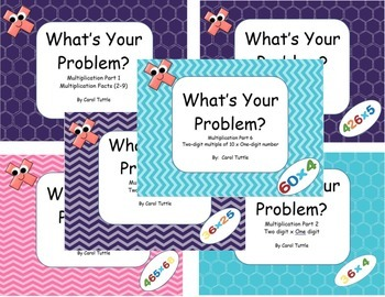 What's Your Multiplication Story Problem?  BUNDLE of Six Products