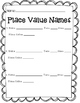 What's Your Name Worth? [Place Value Activity]