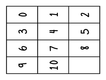 What's Your Number?  A Multiplication Fact Game: 3.OA.4 and 3.OA.7