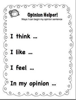 What's Your Opinion Kids? Grades K-2
