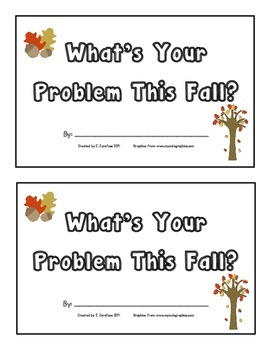 What's Your Problem This Fall?--book