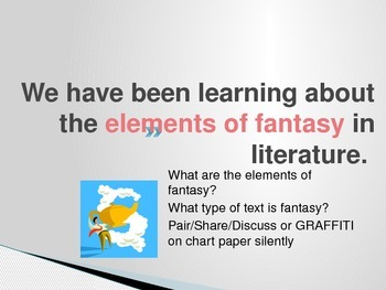 What's Your Savvy? Narrative Fantasy Writing Piece Common Core Power Point