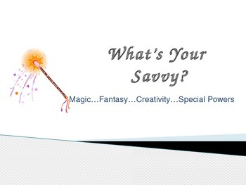 What's Your Savvy? Narrative Fantasy Writing Piece Common