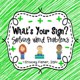 What's Your Sign-Solving Addition and Subtraction Word Problems