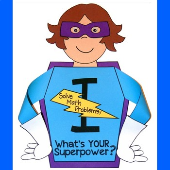 Superhero Goal Setting Craft for Back to School or End of the Year