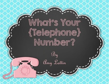 What's Your {Telephone} Number? - **Editable**