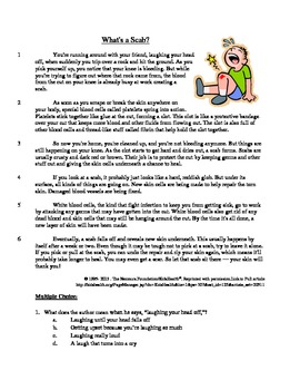 What's a Scab? - Informational Text Test Prep