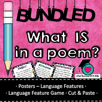 Whats a poem ? Poetry packet - All 3 resources combined.