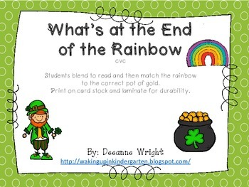 What's at the End of the Rainbow-cvc words