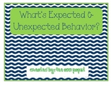 What's expected and unexpected behavior?