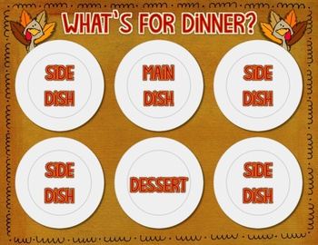 What's for Dinner Mr. Turkey? Pick and Purchase Your Perfect Meal {Money Game}