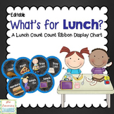 Chevron and Chalkboard Lunch Choices Display: Editable, Cl