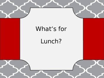 Whats for Lunch Sign
