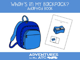 What's in My Backpack? Adapted Book