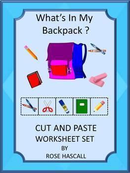Back to School Kindergarten Math & Literacy Centers Cut &