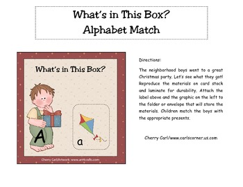 What's in This Box? Christmas ABC Match Christmas Literacy Centerer