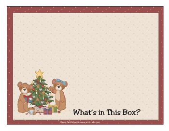 What's in This Box? Christmas Number Order 1-10 Literacy Center