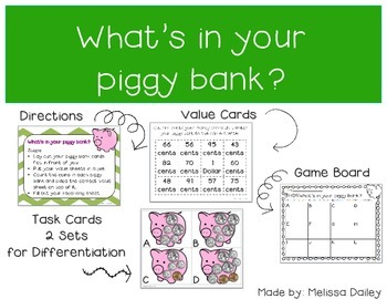 What's in Your Piggy Bank? {Coin Counting Game}