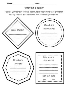 What's in a Fable? Graphic Organizer