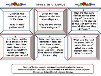 What's in a Menu?