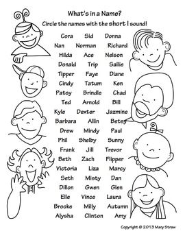 What's in a Name? A Short Vowel Sound Search