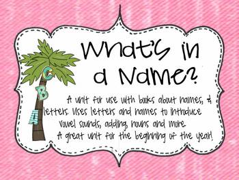 What's in a Name Freebie  A unit for the using letters and names