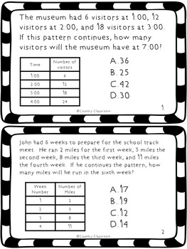 What's in a Pattern?  Solving Questions Using Number Patterns  CCSS 3.OA.9