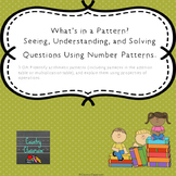 What's in a Pattern?  Solving Questions Using Number Patte