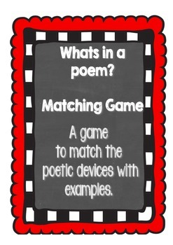 Whats in a Poem Sorting Game