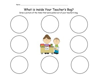 What's in my Teacher's Bag?  (Inferring activity)