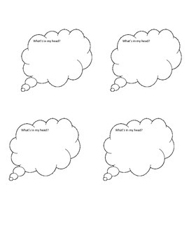 What's in my head? Graphic Organizer