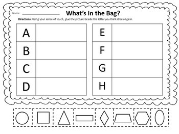 What's in the Bag? Shapes