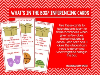 What's in the Box?? Inferencing Cards!