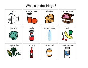 """""""What's in the Fridge?"""" Matching Activity"""