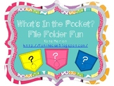 What's in the Pocket File Folder Game Fun