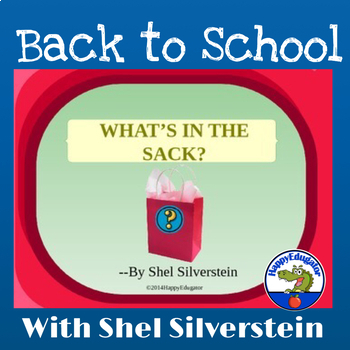 """What's in the Sack"" by Shel Silverstein PowerPoint - Beginning of the Year"